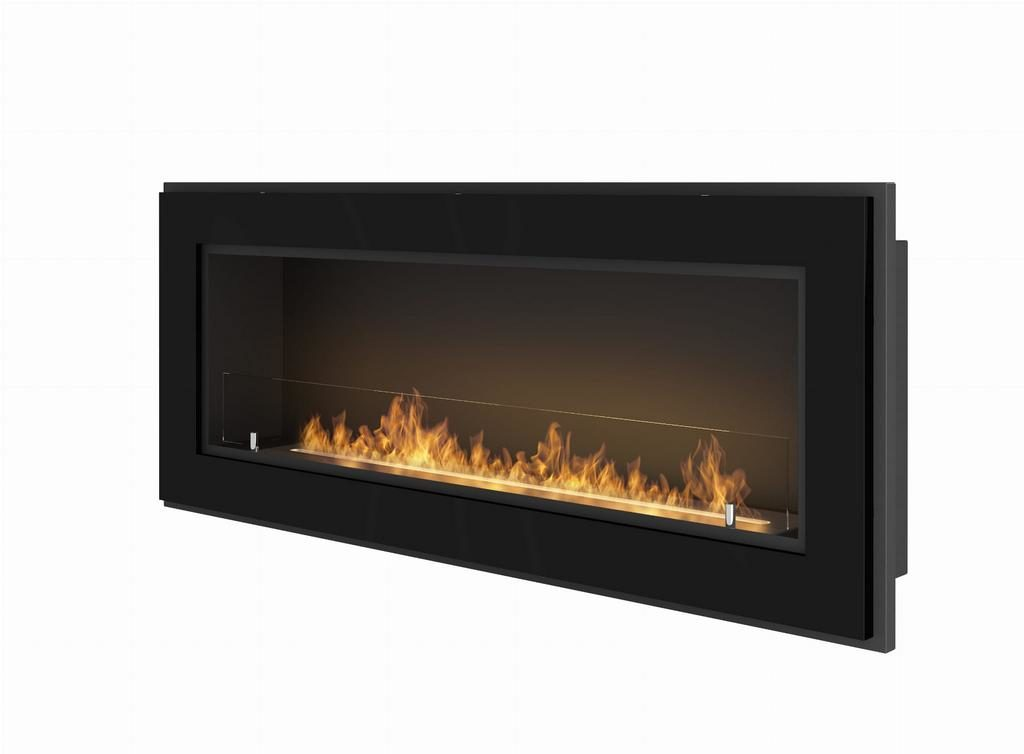 Chimenea de bioetanol encastrable Infire Simplefire Frame 1200 negra